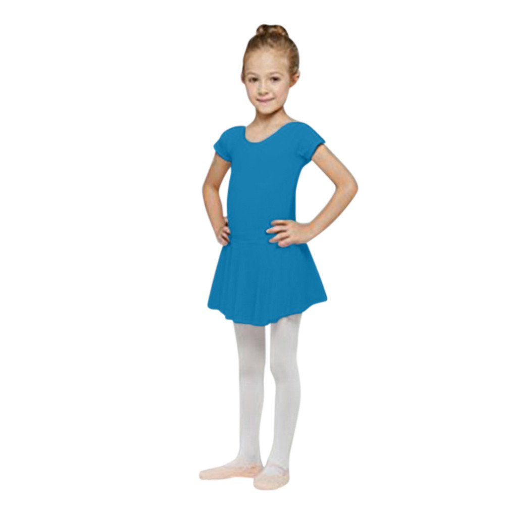 FEITENGTD Toddler Girls Straps Leotards Ballet Bodysuit Dancewear Dress Clothes Outfits for 1-6 Years Old Blue, 2T Hot Sale