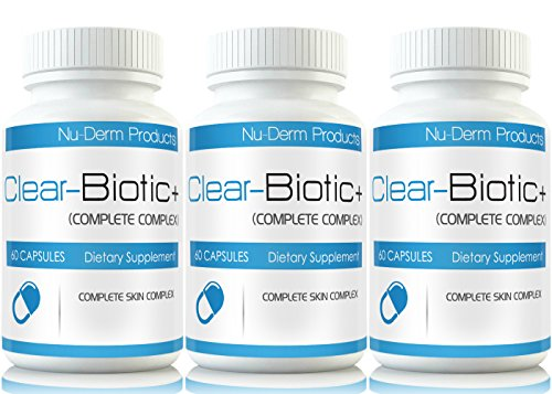 Clear Biotic (3pk) Acne Vitamins Acne Pills Supplements Acne Treatment W Super Acne Vitamins a E C & B2 by Clear-Biotic+