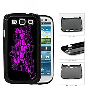 Run Like There's A Hot Guy Violet Hard Plastic Snap On Cell Phone Case Samsung Galaxy S3 SIII I9300