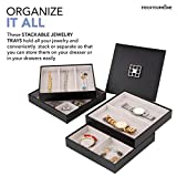 Stock Your Home Jewelry Organizer Stackable Trays