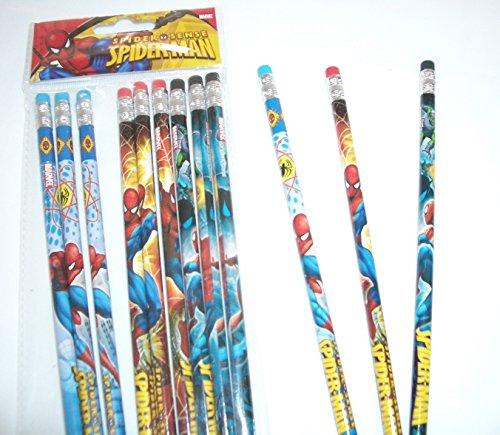 Marvel Ultimate Spiderman 12 Wood Pencils Pack Photo #2