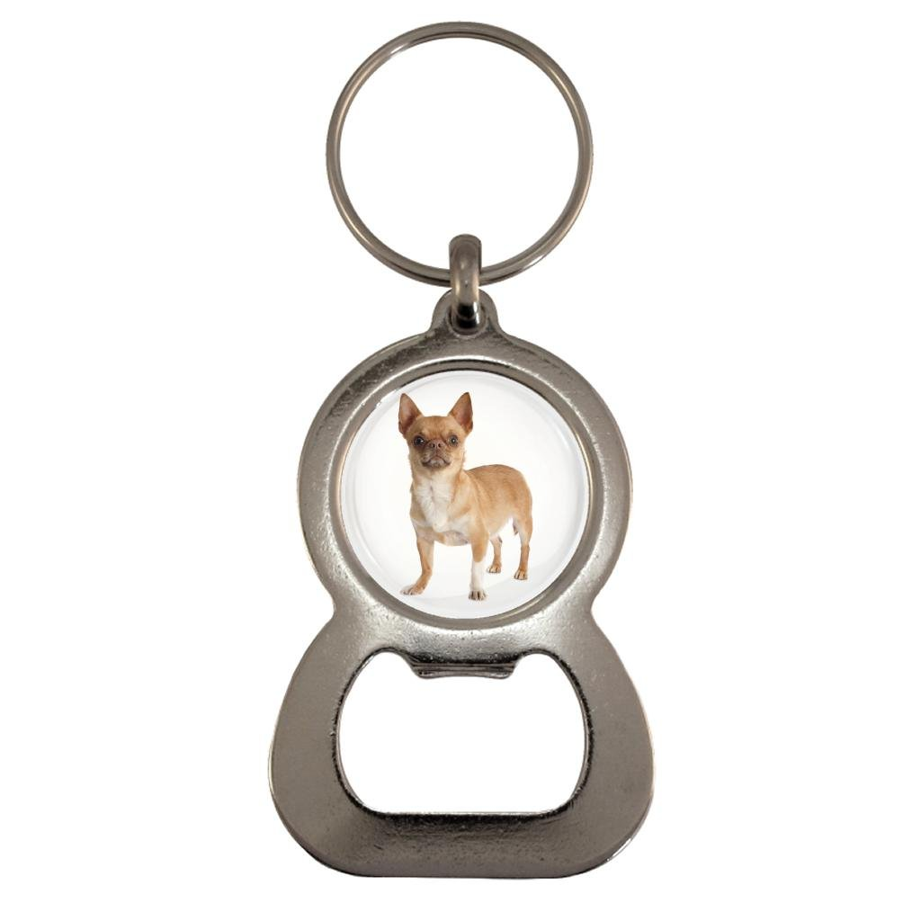 Chihuahua Dog Image Design Metal Bottle Opener Keyring in Gift Box