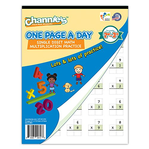 Channie's One Page A Day Single Digit (Beginner)