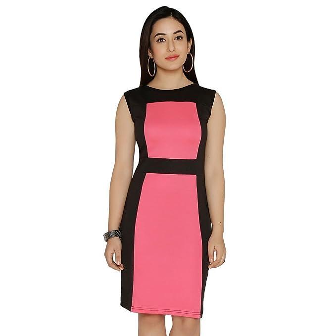 8300f7d0e0 Chimpaaanzee Women Sheath Dress Pink  Amazon.in  Clothing   Accessories