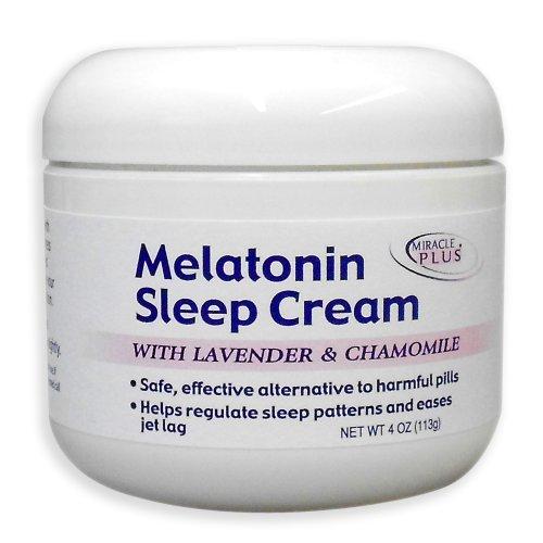Miracle plus Mélatonine Crème sommeil, 4 once