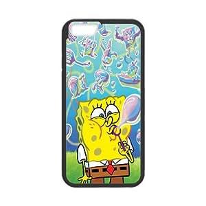 iPhone 6 4.7 Inch Cell Phone Case Black Sponge-Bob Plastic Fashion Phone Cases XPDSUNTR09891