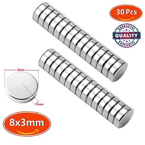 Premium Pack 30 Brushed Nickel Magnetic Push Pins, - Welding Helmets Lightning