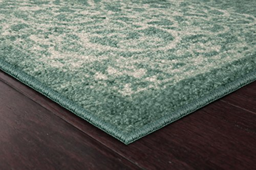 Maples Rugs Kitchen Rug - Pelham 2'6 x 3'10 Non Skid Small Accent Throw Rugs [Made in USA] for Entryway and Bedroom, Light Spa by Maples Rugs (Image #2)