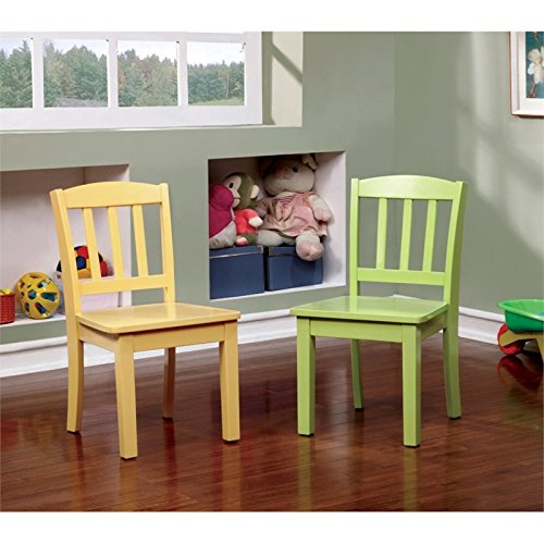 Furniture of America Allie Kids 5 Piece Table and Chair Set in White by Furniture of America (Image #3)