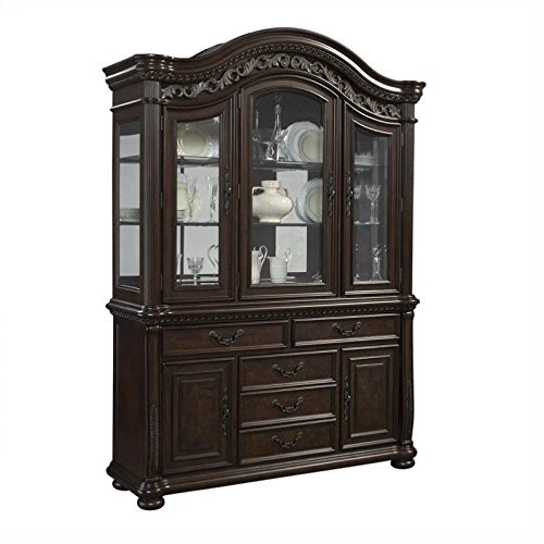 Samuel Lawrence San Marino China Cabinet in Dark Brown by Samuel Lawrence Furniture