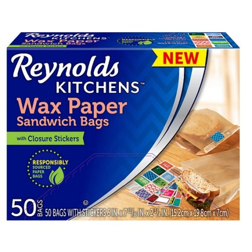 Reynolds Kitchens Wax Paper Sandwich Bags - 6x7-13/16, 50Count