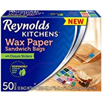 50-Count Reynolds Kitchens Sandwich and Snack Wax Paper Bags