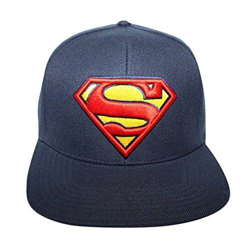 Concept One Men's Licensed Superman Classic Logo Snapback Hat O/S Navy Blue