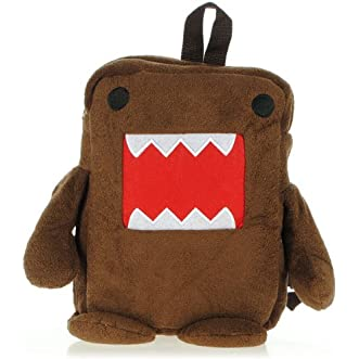 Domo Kun Figure Plush Soft Cartoon Backpack Brown Bag // Figura kun domo bolsa marrón de felpa mochila de dibujos animados suave
