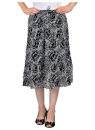 Line Skirt Black A Women's Breeze Cotton Pxq0w6gz8