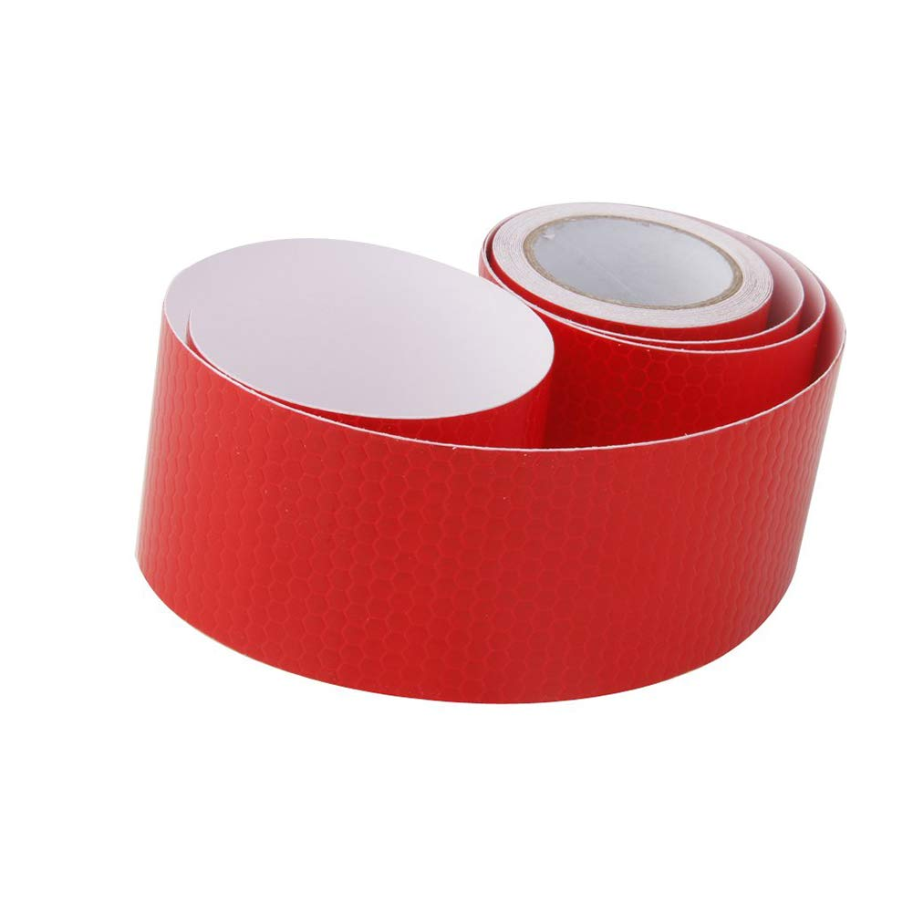 5cm*3m Red Waterproof Reflector Safety Tape Reflector Warning Tape for Vehicles Cars Trailers Bikes Helmets Safety Tape High Intensity Reflective Tape Film Sticker Self Adhesive Plastic Reflective Tape