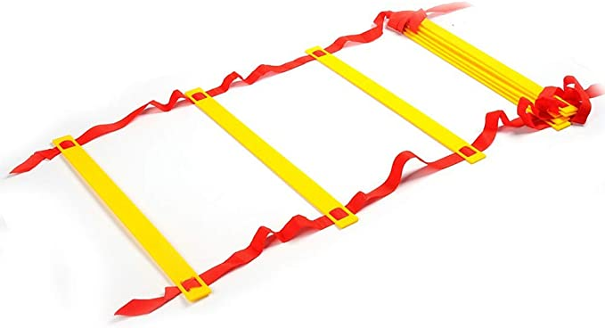 LYY Espesó Esquina Cuadrada ágil Velocidad Saltar Escalera de Cuerda Suave, 3-10m con una Bolsa de Transporte - Peldaño para Adultos de los niños Funcional Training Ball, Baloncesto, Tenis y Más: Amazon.es: