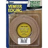 Band-It 78220 Real Wood Veneer Iron-On Edgebanding, Walnut, 7/8'' x 25'