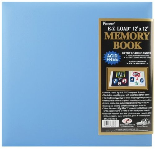 Pioneer MB10P-60657 Pastel Leatherette Postbound Album 12 x 12 Inch