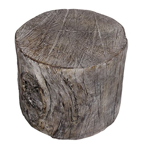 A&B Home Round Tree Stump Cement Pedestal/Plant Stand 10''