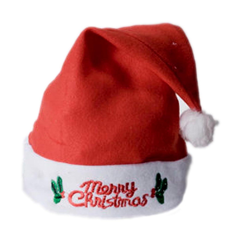 amazoncom flashing light up santa hat merry christmas clothing