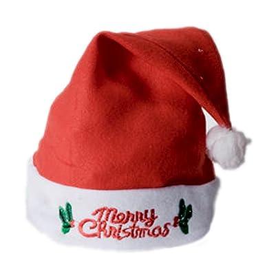 Amazon.com: Flashing Light-Up Santa Hat Merry Christmas: Clothing