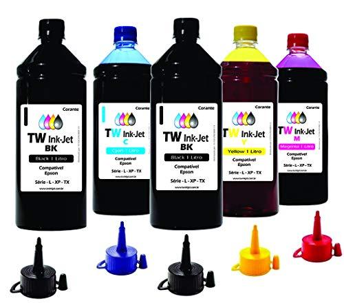 5 Litros de Tinta Para Epson EcoTank L4160 L6161 TW Ink-Jet