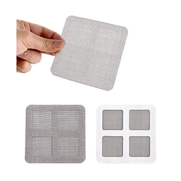 24 Pz/set Anti-Insetto Fly Door Window Anti Zanzariera Rete Mesh Repair Tape Patch Adesivi adesivi per Home Office-Nero… 3 spesavip