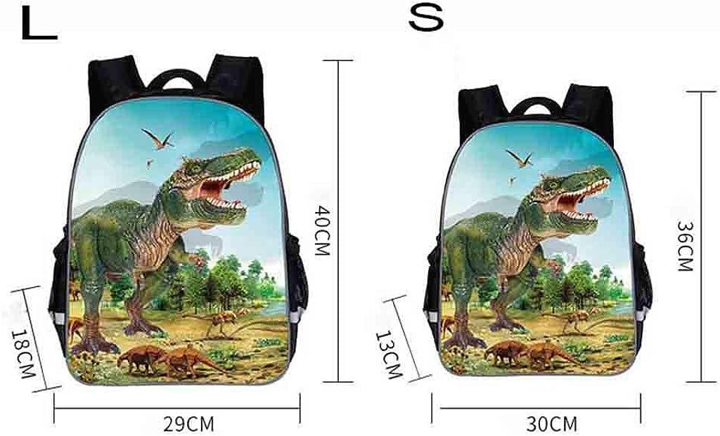 FAVARAL Sac d/école de Fille et gar/çon Cartable Primaire Motif Dinosaure R/éaliste pour /École Quotidien Scolaire Voyage