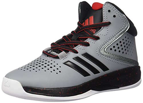 adidas Boys' Cross 'Em up 2016 Skate Shoe, Light Onix/Black/Light Scarlet, 6 M US Big Kid