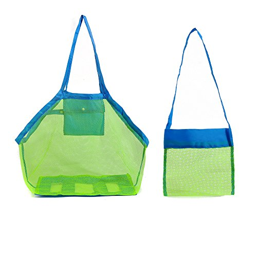 Bringsine Beach Mesh Bag Tote Stay Away From Sand for Family Children Play Kids Toys Shell Collect (XL Size + S - Goody Dr Good