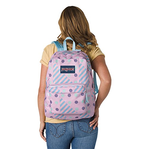 Backpack Adult Unisex Jansport Cream Superbreak Ice Black Geo Label XzCAqxw