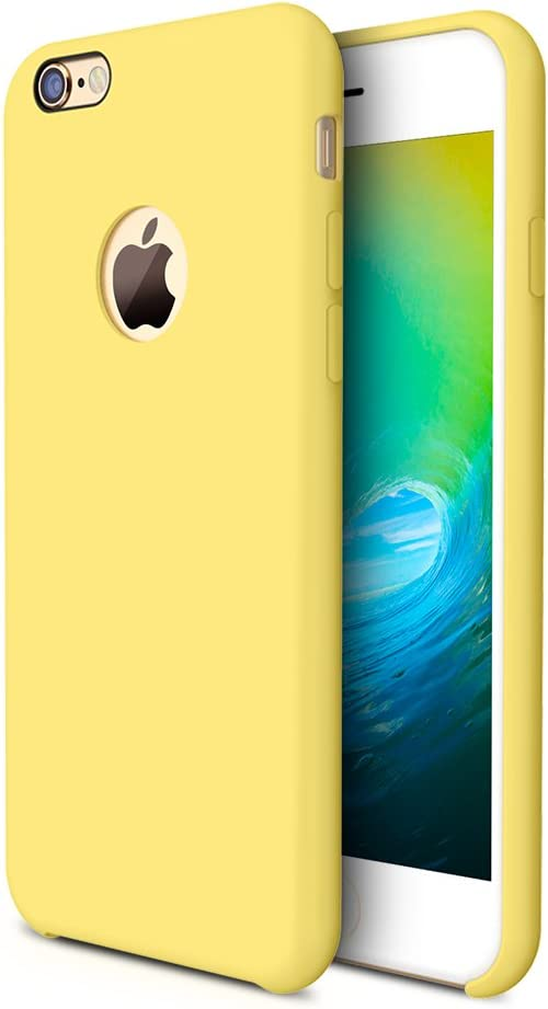 TORRAS [Love Series iPhone 6S Case/iPhone 6 Case, Liquid Silicone Rubber Shockproof Case with Soft Microfiber Cloth Cushion Compatible with iPhone 6 / 6S, Yellow