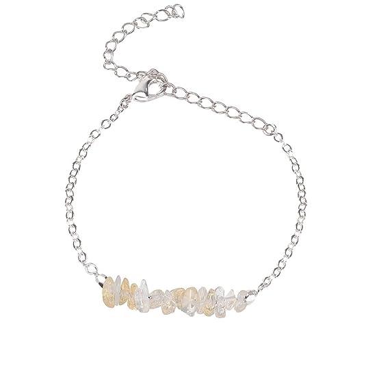 Amazon.com: Pulsera de piedras preciosas para mujer y niña ...