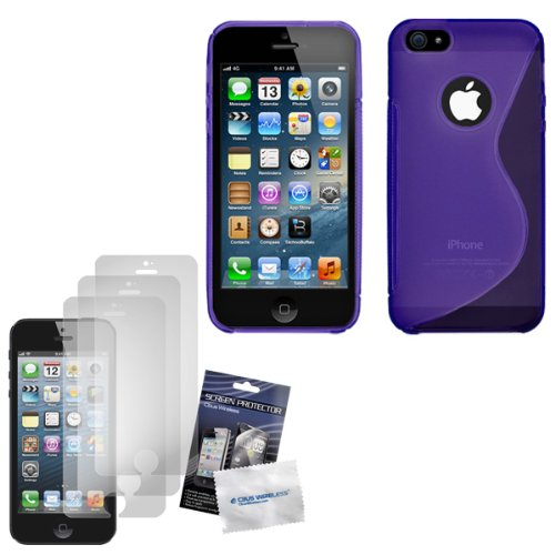 cbus-wireless-purple-s-line-flex-gel-case-skin-cover-three-lcd-screen-protectors-guards-films-for-ap