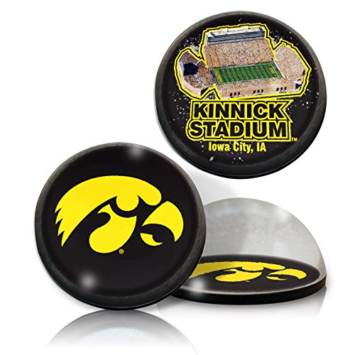 NCAA Iowa Hawkeyes Crystal Paper Weight with Magnets, 2