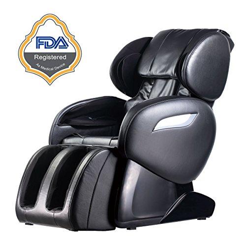 2017 Electric Full Body Shiatsu Massage Chair Foot Roller Zero Gravity w/Heat