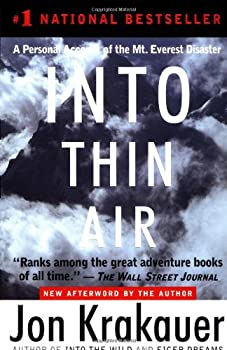 Into Thin Air: A Personal Account of the Mt. Everest Disaster 0385492081 Book Cover
