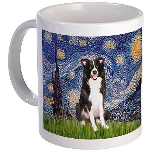 Starry Night Border CollieMug, 11oz Coffee Cup