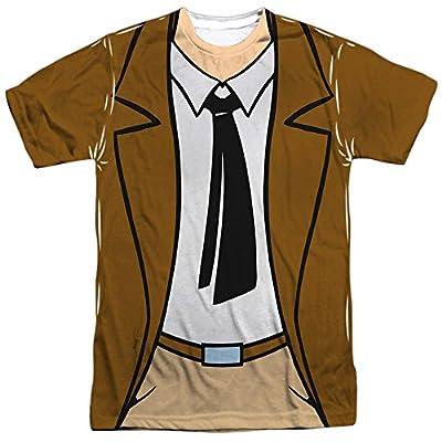 Batman The Animated Series Gordon Uniform Mens Sublimation Shirt White Sm