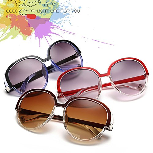 Style Fashion uv Dark Concise Sunglasses Z New Geek 60mm Personality Women's p Anti Black Vintage Sqw4pEgfE