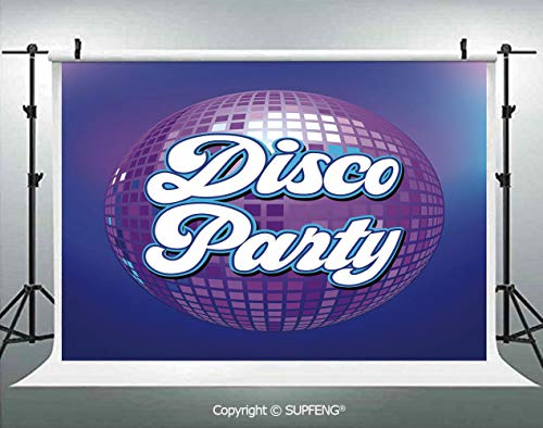 Photography Background Retro Lettering on Disco Ball Night