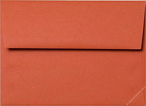 A-7 Sunset Orange Solid Matte Envelopes (Straight Flap, (5 1/4