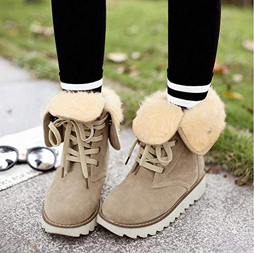 AGECC Shoes Winter Apricot Children'S Short Boots Boots Medium In And Ground Boots And color Snowy Autumn rPngqAwUxr