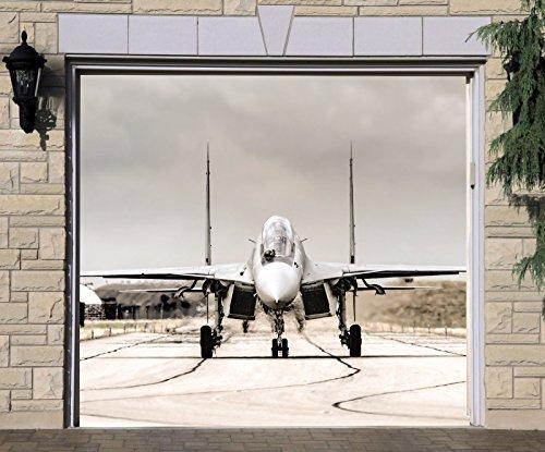 Jet Plane Banner Single Garage Door Covers Door 3d Effect Print
