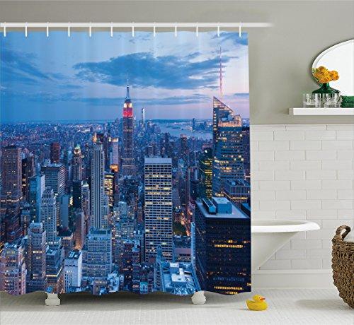 Curtain Ambesonne Fashion Capital Bathroom