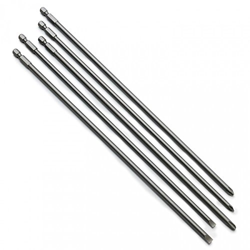 J&R Quality Tools 5 Pc Super Long S2 Phillips Screwdriver Bit Set 12in (Best Quality Screwdriver Bits)