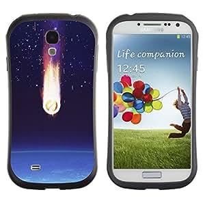 Paccase / Suave TPU GEL Caso Carcasa de Protección Funda para - Comet Earth Art Space Stars Atmosphere - Samsung Galaxy S4 I9500
