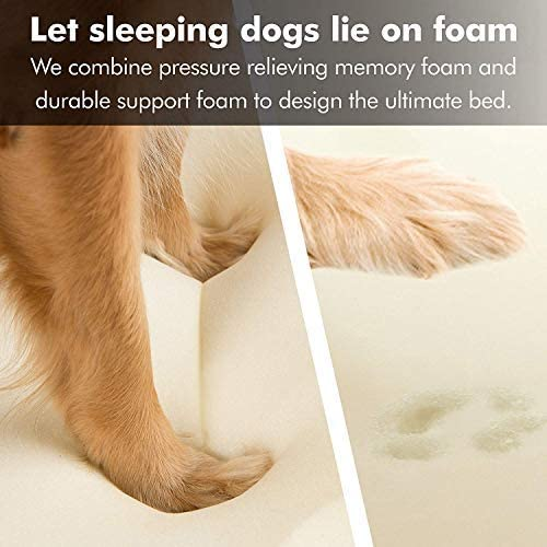 Kuranda Dog Bed – Chewproof Design – Almond PVC – Indoor Outdoor – Elevated – High Strength PVC – Easy to Clean – Water Proof Fabric Coating – Ballistic Nylon Fabric