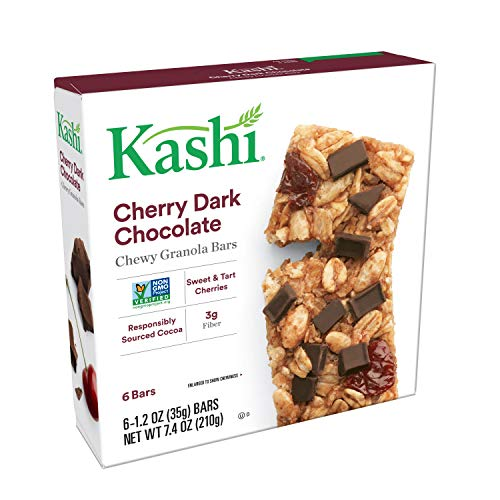 Kashi, Chewy Granola Bars, Cherry Dark Chocolate, Non-GMO Project Verified, 7.4 oz (6 Count)